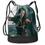 Capitán Marvel mochila con cordón mochila portátil para ocio, deporte,...