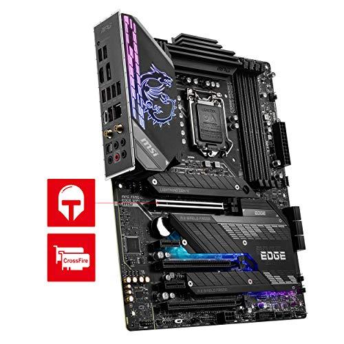 MSI MPG Z590 GAMING EDGE WIFI Scheda Madre gaming ATX Supporta processori Intel Core 11th, LGA 1200 Mystic Light, 14 Duet Rail 75A VRM, DDR4 Boost (5333MHz/OC), PCIe 4.0 x16, M.2 Gen4/3 x4, Wi-Fi 6E