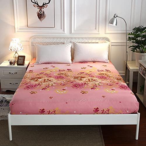 CYYyang Protector de colchón de Rizo algodón y Transpirable Paquete Completo de sábanas de un Solo producto-21_150x200 + 25cm