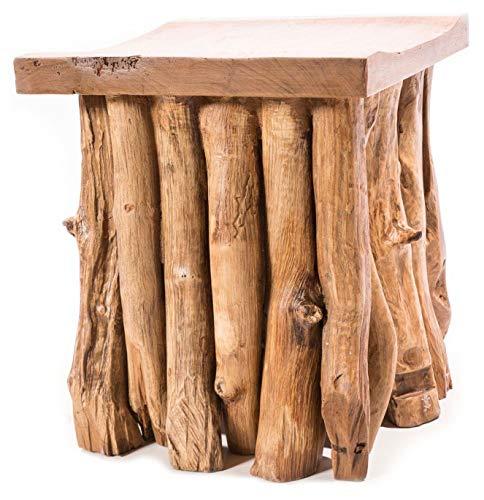Windalf AMA Tabouret et boîte de nuit en bois de racine 45 cm