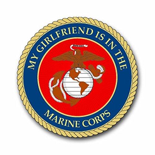 US Marine Pride 'My Girlfriend is in The Marine Corps' Decal Sticker 5.5'