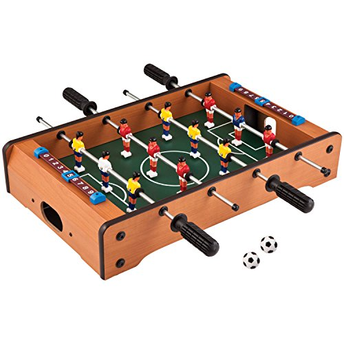 Toyshine Wood Mid-sized Foosball, Mini Football, Table Soccer Game (50 Cms) - Lets Have fun!, Multi color
