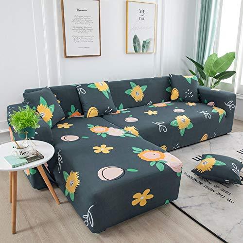 ASCV Fundas de sofá Fundas de sofá para Sala de Estar Funda de sofá elástica Funda de sofá seccional elástica A6 2 plazas