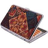 CORKCHO Pitillera para Guardar Cigarillos, Caja Soporte Cigarillos 11x7x2cm, para Guardar el Tabaco de Corcho, Responsable con el Medioambiente, Pitillera Pequeño para 14 Cigarillos, Diseño 6