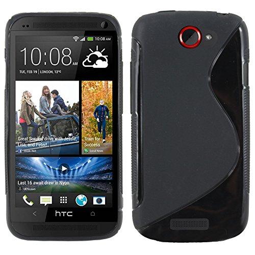 ebestStar - Cover Compatibile con HTC One S Custodia Protezione S-Line Design Silicone Gel TPU Morbida e Sottile, Nero [Apparecchio: 130.9 x 65 x 7.8mm, 4.3'']
