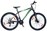 Hero Sprint Pro Trans 26T 21 Speed Bicycle with Dual Disc Brake (Green and Black)