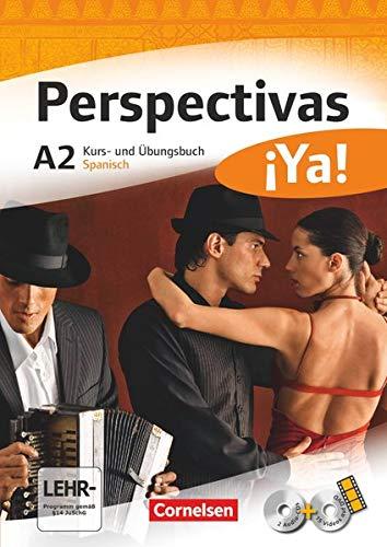 Perspectivas ¡Ya! - Spanisch für Erwachsene - Aktuelle Ausgabe - A2: Kurs- und Übungsbuch mit Vokabeltaschenbuch und Lösungsheft - Mit zwei CDs sowie einer DVD
