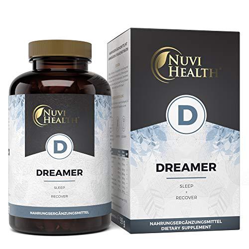 Dreamer - Premium: Mit 5-HTP, Ashwagandha, L-Tryptophan, GABA, Hopfen, Melissenextrakt & Schwarzer Peffer - 120 Kapseln - Laborgeprüft - Hochdosiert - Vegan - Natürliche Alternative