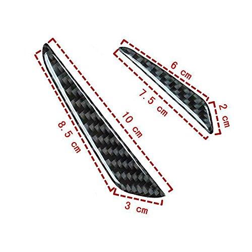 QJPhang4枚入れカーボン製サイドドアガード保護ステッカー自動車用ドアプロテクターカー保険用品炭素繊維傷防止防衝撃防水仕様車ドアガード高い保護力簡単設置(ブラック)