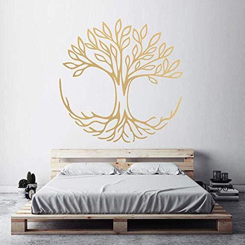 Baum Des Lebens Wandtattoos Symbol Der Verbindung Spirituelle Yoga Wohnkultur Wohnzimmer Vinyl Wandaufkleber Schlafzimmer Dekoration 57X57 Cm