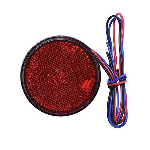 LOceani Feux arrières Rondes de Voiture réflecteurs LED Moto réflecteurs LED Feux de signalisation côté Camion