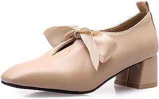 BalaMasa Womens APL11877 Pu Block Heels