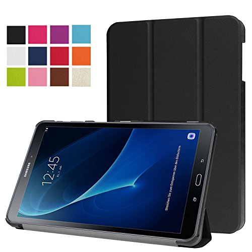 Galaxy Tab A 10.1 Case, OEAGO Samsung Galaxy Tab A 10.1-Inch Case Cover Accessories - Ultra Thin Smart Cover Hard Back Case for Samsung Galaxy Tab A 10.1'' (SM-T580 / SM-T585) (2016 Release) - Black