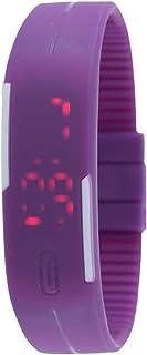 Genius Purple Unisex Digital LED Dial Silicone Band Watch - UMB-GENIUS-PURPLE