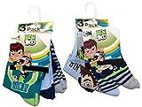 Cartoon Network Ben10 chaussettes 6 pack pour les enfants, les garçons et les filles de différentes tailles, coloré (23/26)