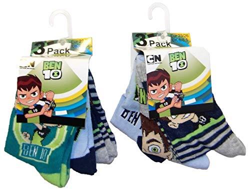 Ben10 calzini confezione da 6 per bambini, diverse misure, colorati (23/26)
