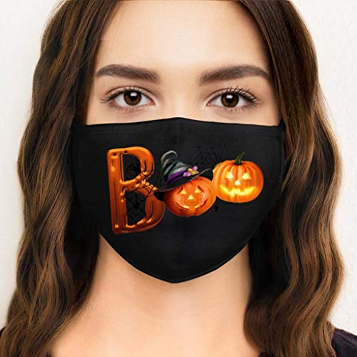 Fast Delivery goalBY Adult Bandanas for Men and Women Halloween Printed Washable s 3PCS (Black)