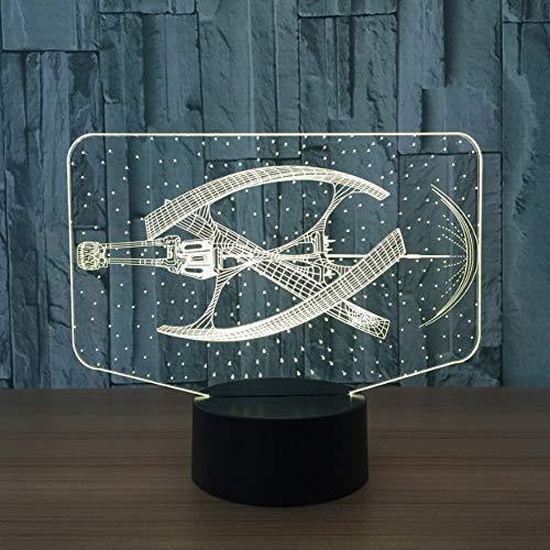 Mode Star Wars 3D Lumière LED Dirigeable Éclairage Garçon Décor À La Maison Chambre Lampe De Table Couleurs De Noël Humeur Dormir Veilleuse