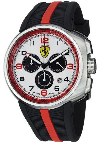 フェラーリFerrari 腕時計 FE10ACCCGWT F1 Fast Lap Chronograph White Dial Black Rubber メンズ 並行輸入品