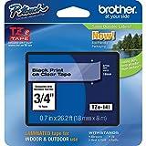 BROTHER TZE141 cinta para impresora de etiquetas, color negro, Talla Unica