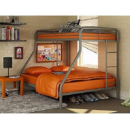 Dorel Twin Over Full Metal Bunk Bed Steel Color Furniture Decor