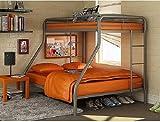 Dorel Twin-Over-Full Metal Bunk Bed, Steel color