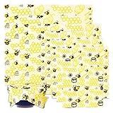 BALFER Bienenwachs-Wraps 8er-Set, Wachspapier Bienenwachstücher aus natürlichem Bienenwachs und Öko-Tex Baumwolle, für natürliche Lebensmittelaufbewahrung, Käse- und Sandwich-Verpackungen