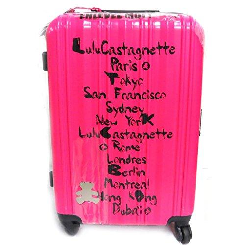 Set di 3 trolley valigia abs 'Lulu Castagnette'fucsia (50/60/70 cm).
