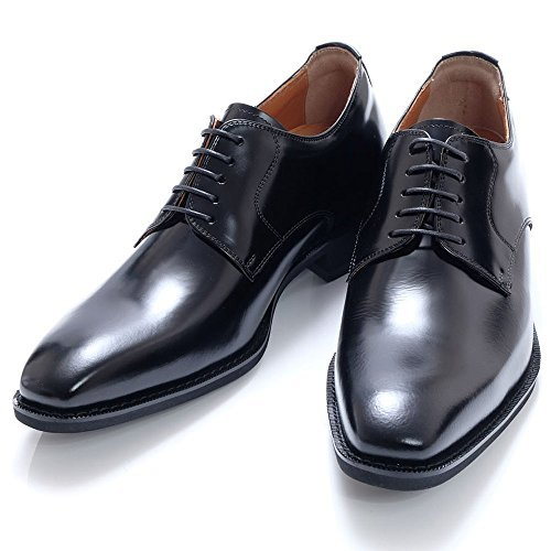 (North Island Shoe Industry Institute)北島6cmUP本革シューズ長頭羽毛フラットシューズ「フットロングトップシューズ」×931(日本製メンズレースメンズレザーレースグルーミング製)