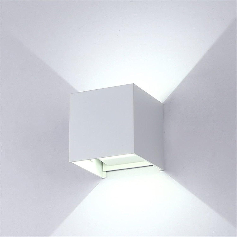 Firsthgus E27 Wandlampe Led Wandleuchte Wohnzimmer Schlafzimmer Bett Wasserdichte Wand Wandleuchte, Auf und Ab 3 Watt Warmweies Licht