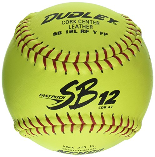 Dudley NFHS SB 12 Fastpitch Softball-12Pack , Yellow