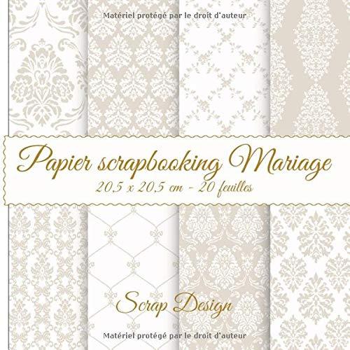 Papier Scrapbooking Mariage 20,5 x 20,5 cm 20 feuilles