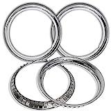 2005 honda accord 16 inch rims - OxGord Trim Rings 16 inch Diameter (Pack of 4) Stainless Steel Beauty Rims