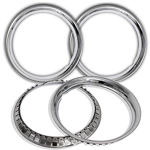 OxGord Trim Rings 14 inch Diameter (Pack of 4) Stainless Steel Beauty Rims