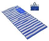 Masmas Strandmatte, faltbar, atmungsaktiv, für Outdoor, Camping, wasserdicht, tragbar, Sandschutz, Strandmatte blau
