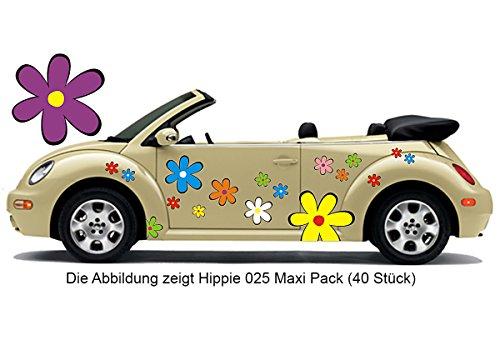 Hippie Blumen Aufkleber, Autoaufkleber Hippie 025 - bunt gemischt (16)