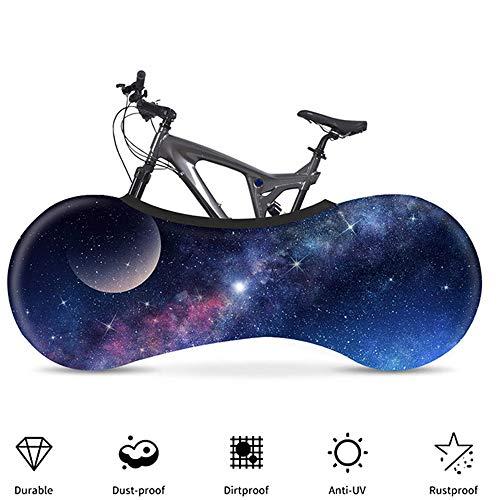 YYDM 3D Estrellado Cielo Cubierta Moto, Cubierta De Bicicleta Estática, Mantener La Habitación Ordenada, Resistente Al Agua, Al Polvo Y Protección UV, Que Se Utiliza para El 99% Bicicleta De Adulto,3