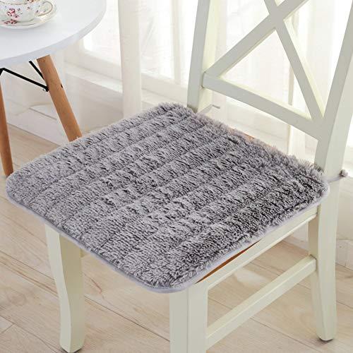 YLCJ stoelkussen voor de winter, zuivere bekleding, pluizig, antislip, stoelkussen voor bureaustoel, 60 x 60 cm