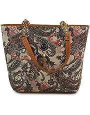 Flora Women's Handbag (FLORA-158-2_Brown)