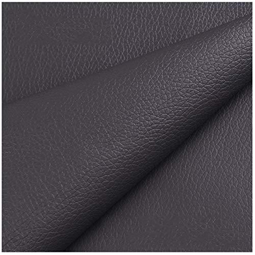 SSYBDUAN Möbelstoff Premium Bezugsstoff Zum Kunstledergewebe 160 X 50 cm, Hochwertiges PU-Kunstleder Feuerhemmendes Wasserdichtes Kunstleder-Bastelmaterial (Color : 9#Grey)