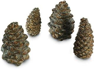 RH Peterson Gas Logs Decorative Ceramic Pine Cones In Assorted Sizes - Set Of 4