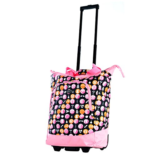 Olympia Deluxe Rolling Shopper, Pink, One Size