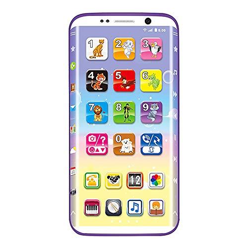 BSTQC Educativa del bebé teléfono de Juguete simulador electrónico de Pantalla táctil del teléfono Herramientas de Aprendizaje niños de Juguete del Regalo del bebé