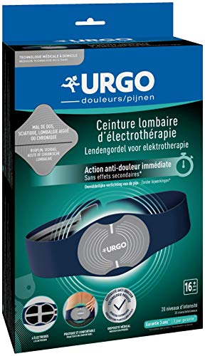 Urgo - Ceinture lombaire d électrothérapie - Technologie TENS - Soulagement de la douleur - Avec piles