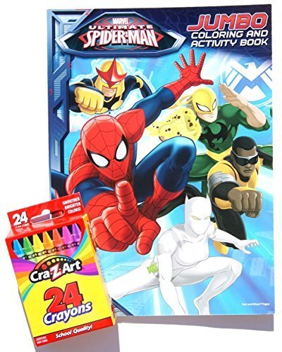 Marvel Ultimate Spider-Man Jumbo Coloring and Activity Book with a Box of Crayons