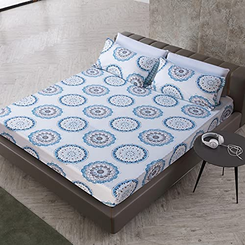WNAVX Duvet 2020 Fitted Sheet Soft Beauty products Seattle Mall with Elastic P Bed Band