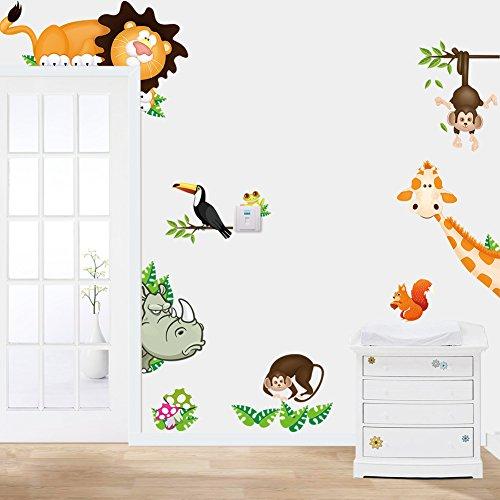 Pegatinas de Pared Decorativas Animal Creativas de la pared 75x58cm para Ventana Habitación Dormitorio