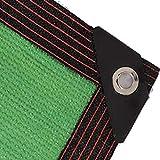 Cortinas De Patio para Exterior Protección Solar Aislamiento Térmico Refrigeración Tela De Sombra Verde para Flores Plantas Césped De Patio Personalizado(Size:2mx4m,Color:Verde)