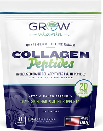 Live Well Collagen Powder - Collagen Peptides with All-Natural Hydrolyzed Protein - Collagen Peptides Powder for Hair Nail and Skin Support - Collagen Peptides Protein Powder for Joint Support