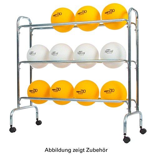 Ballregal für bis zu 12 Bälle, Ballwagen für Sporthallen Vielzweckwagen, fahrbar